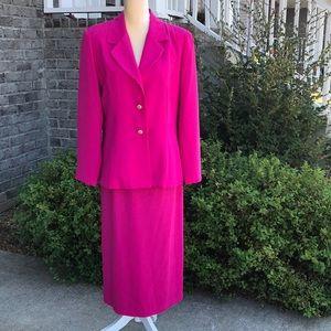 Katherine Kay Fuchsia Suit